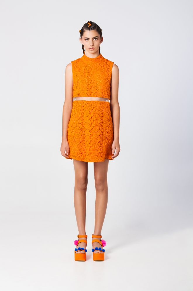 Mexico City dress orange