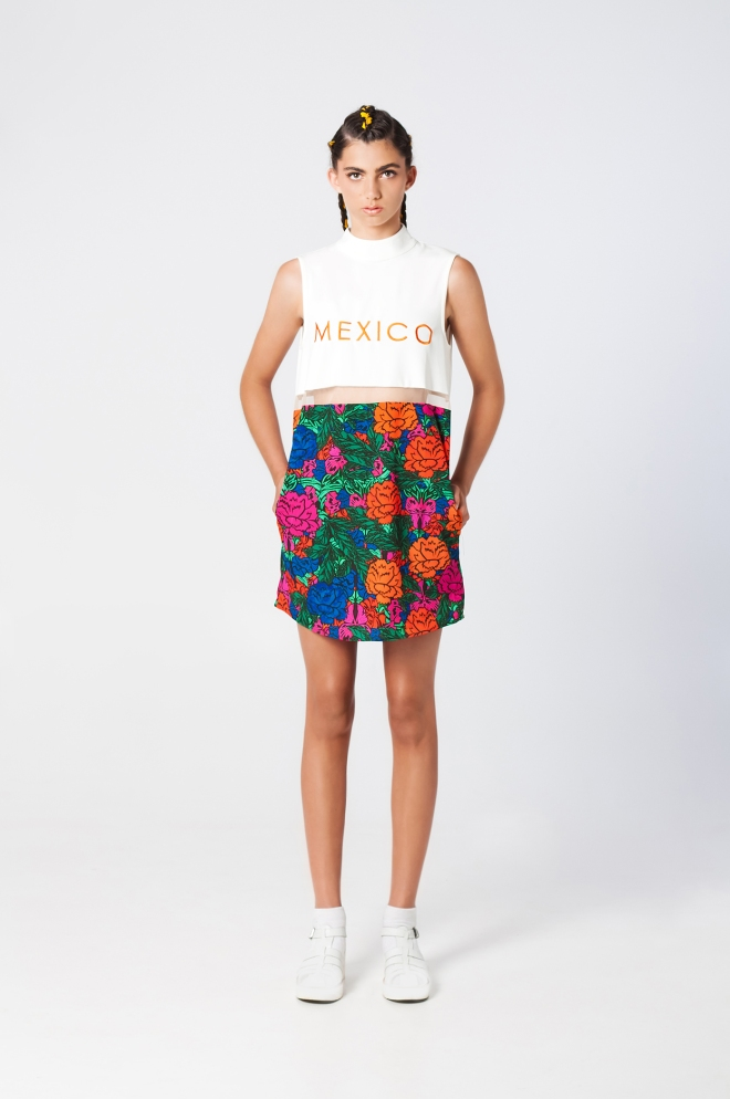 Mexico City dress print